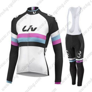 2015 Team Liv Women's Cycling Bib Long Kit White