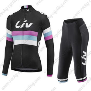 2015 Team Liv Women's Cycling Long Jersey + Capri Cropped Trousers Black