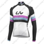 2015 Team Liv Women's Cycling Long Sleeves Jersey White