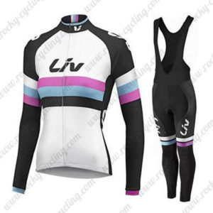 2015 Team Liv Women's Racing Bib Long Kit White