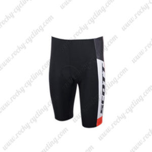 2015 Team SCOTT Bicycle Shorts White Black Red