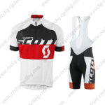 2015 Team SCOTT Biking Bib Kit White Black Red