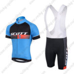 2015 Team SCOTT Cycle Bib Kit Blue Black