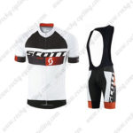 2015 Team SCOTT Cycle Bib Kit White Black Red