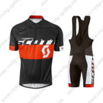 2015 Team SCOTT Cycling Bib Kit Black Red