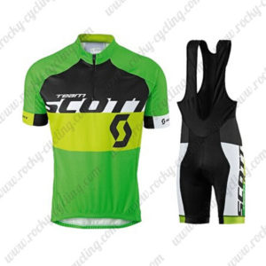 2015 Team SCOTT Cycling Bib Kit Green Yellow