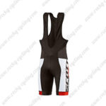2015 Team SCOTT Cycling Bib Shorts Black Red