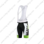 2015 Team SCOTT Riding Bib Shorts Black White Green