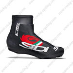 2015 Team SIDI Riding Shoes Covers Black Red
