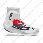 2015 Team SIDI Riding Shoes Covers White Red
