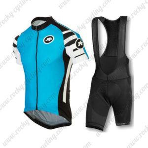 2016 Team ASSOS Cycle Bib Kit Blue