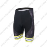 2016 Team Castelli CAFE Cycling Shorts Black Yellow
