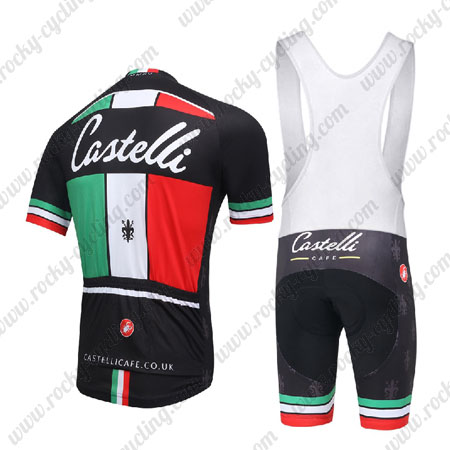 bd3f03174 2016 Team Castelli CAFE Pro Biking Outfit Cycle Jersey and Padded ...