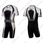 2010 Team Nalini Pro Active Triathlon Cycling Wear Skinsuit Black White