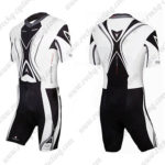 2011 Team Nalini Pro Active Triathlon Cycling Wear Skinsuit Black White