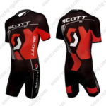 2012 Team SCOTT Racing Triathlon Cycling Wear Skinsuit Black Red
