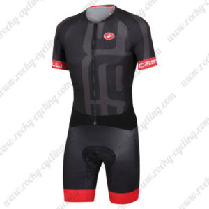 2015 Team Castelli Cycling Skinsuit Black Red