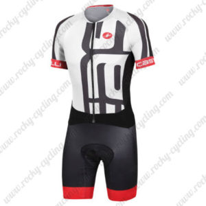 2015 Team Castelli Cycling Skinsuit White Black