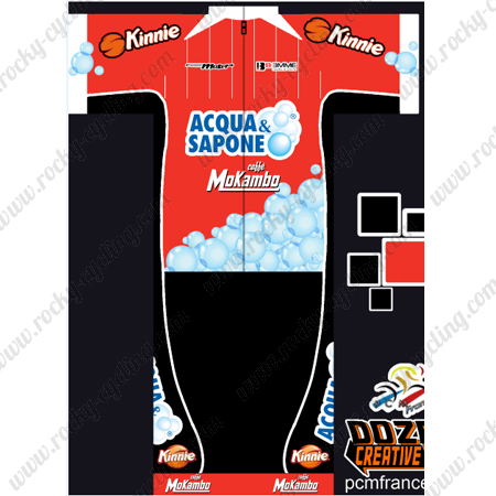 ... Cycle Clothing Biking Jersey and Padded Shorts Red. 2016 Team ACQUA  SAPONE Mokambo Kinnie Cyclig Kit Red c1915da93