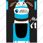 2016 Team AG2R LA MONDIALE FOCUS Cycling Kit Brown Blue