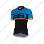 2016 Team Castelli Cycling Jersey Maillot Shirt Blue Yellow Black