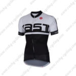 2016 Team Castelli Cycling Jersey Maillot Shirt White Black
