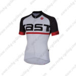 2016 Team Castelli Cycling Jersey Maillot Shirt White Black Red