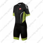 2016 Team Castelli Cycling Skinsuit Black Green