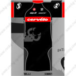 2016 Team Cervelo Castelli Cycling Kit Black Red