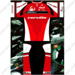 2016 Team Cervelo Castelli Cycling Kit Red White Black