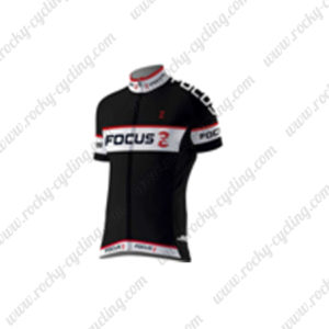 2016 Team FOCUS Cycling Jersey Maillot Shirt Black