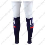 2016 Team IAM Cycling Leg Warmers Sleeves White Blue