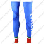 2016 Team ITALIA Cycling Leg Warmers Sleeves Blue Red