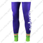 2016 Team Lampre MERIDA Cycling Leg Warmers Sleeves Purple Green