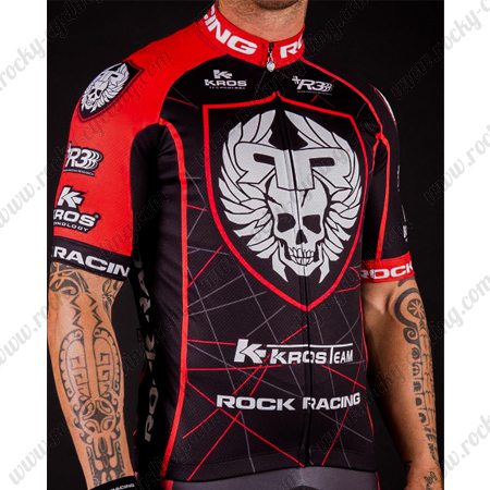 2016 Team ROCK RACING KROS Riding Wear Bicycle Maillot Jersey Tops ... ce169f1b1