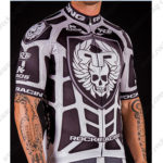 2016 Team ROCK RACING KROS Biking Jersey Maillot Shirt Black White