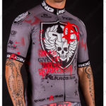 2016 Team ROCK RACING KROS Biking Jersey Maillot Shirt Grey Red