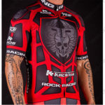 2016 Team ROCK RACING KROS Riding Jersey Maillot Shirt Black Red