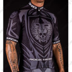 2016 Team ROCK RACING Riding Jersey Maillot Shirt Black Grey