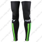 2016 Team SCOTT Cycling Leg Warmers Sleeves Black Green