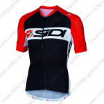 2016 Team SIDI Cycling Jersey Maillot Shirt Black Red