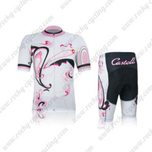 2012 Team Castelli Women's Cycling Kit White Pink