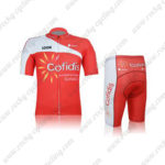 2012 Team Cofidis Cycling Kit Red