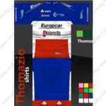 2012 Team Europcar VENDEE Cycling Kit Blue Red