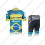 2012 Team GARMIN Brazil Cycling Kit Blue Yellow