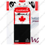 2012 Team GARMIN cervelo Canada Cycling Kit White Red