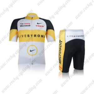 2012 Team LIVESTRONG TREK Cycling Kit White Yellow Black