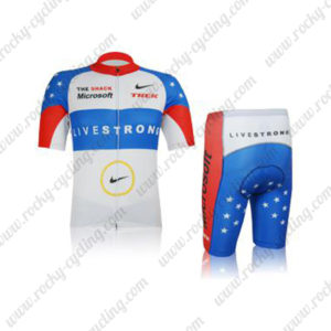 2012 Team LIVESTRONG TREK United States Cycling Kit White Blue Red