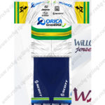 2012 Team ORICA GreenEDGE Biking Kit White Green Yellow
