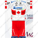 2012 Team ORICA GreenEDGE Canada Cycling Kit White Red